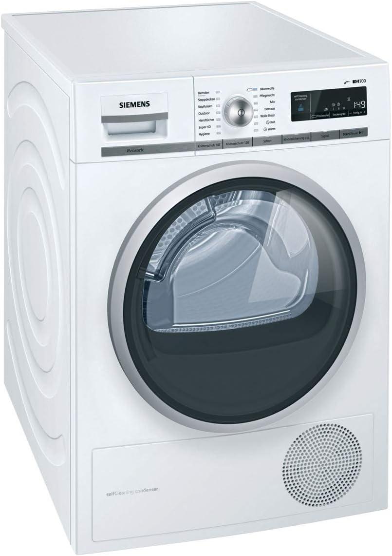 Siemens WT47W5W0 Independiente Carga frontal 8kg A+++ Blanco ...