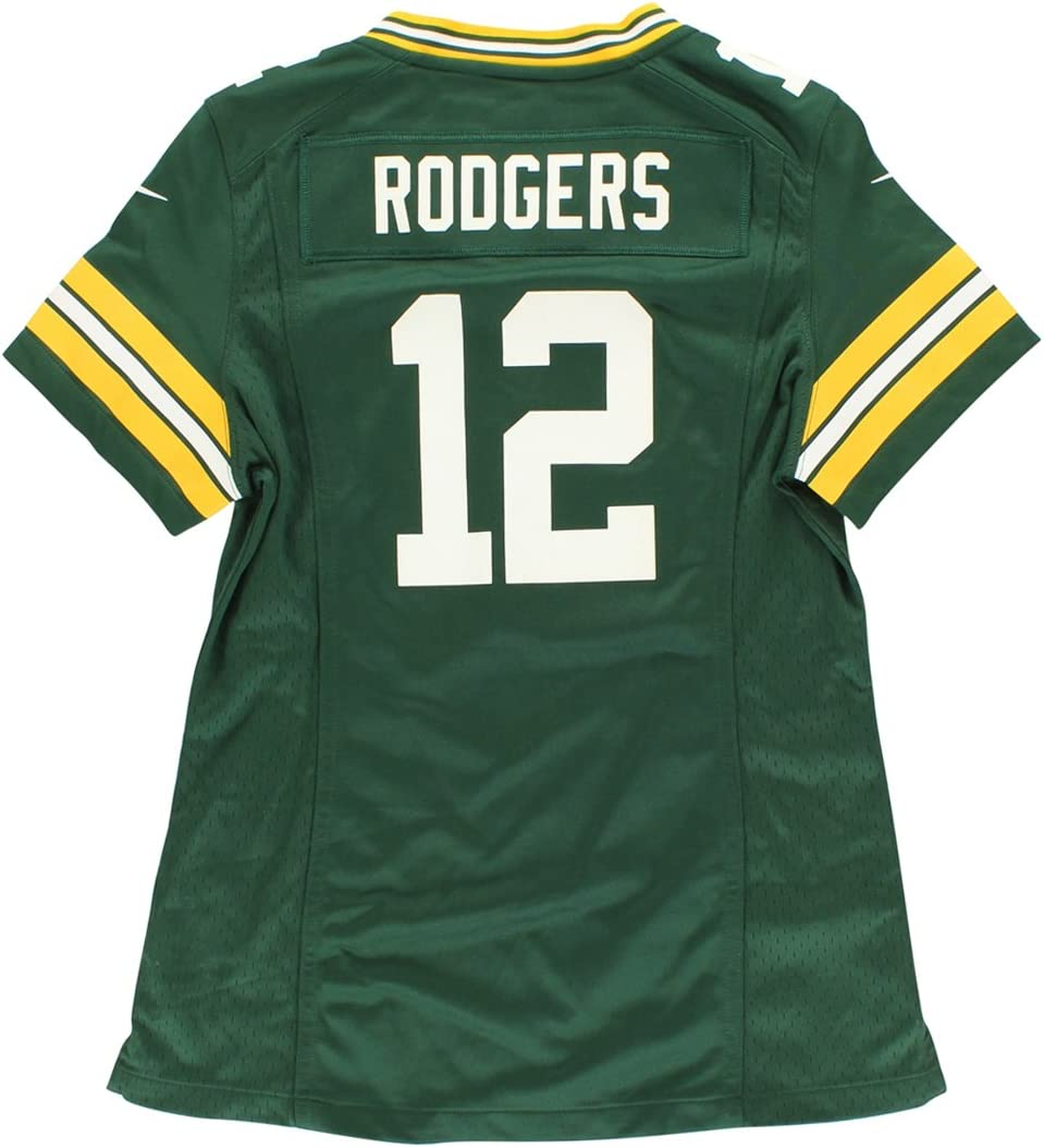 Rodgers 12 Large Green Bay Packers Nike NFL Women/'s Home Jersey New