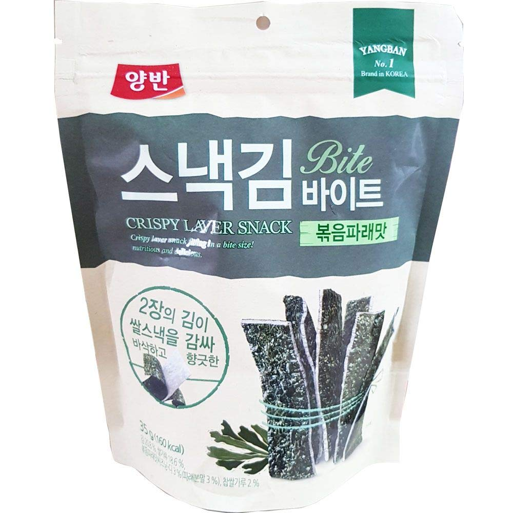 Dongwon Crispy Laver Snack Bite Roasted Green Laver 35g x 16 스낵김
