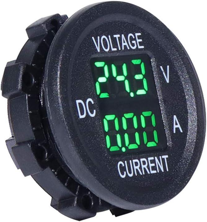 Rhfemd Universal DC 9V to 48V 10A Digital Voltmeter Ammeter Voltage Current Meter Measurement LED Display for 12V 24V 36V Electric Bike Motorcycle Car Truck