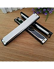 Pleasant Harmonica 24 Holes Tremolo Key C Harmonica Mouth Organ Kids Musical Instrument Toy Gift Musical Instruments Accessaries Comfortable and Environmentally Durability and professional