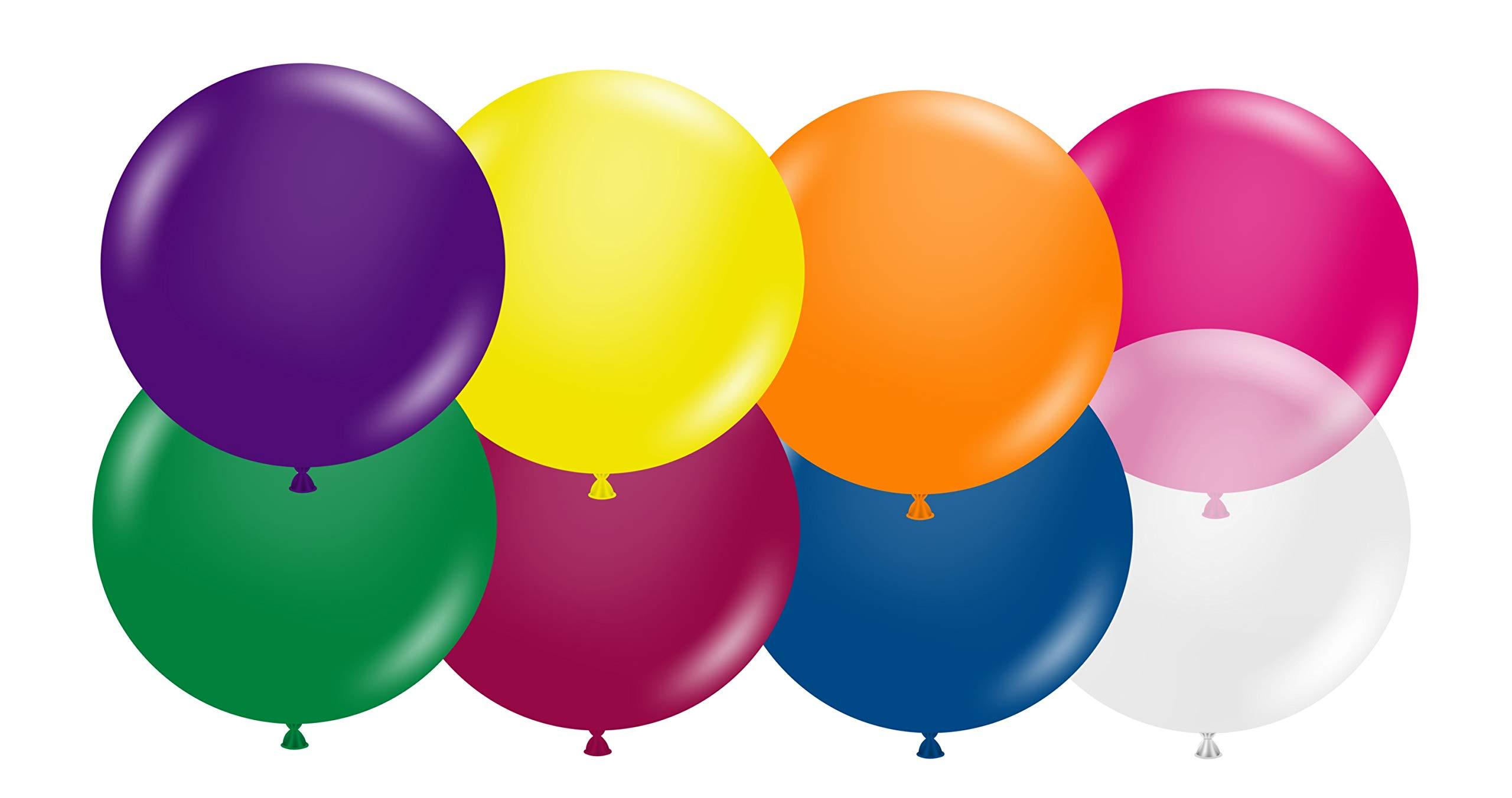 Tuftex 24 Inch Crystal Assortment Latex Balloons (Premium Helium Quality) Pkg of 10