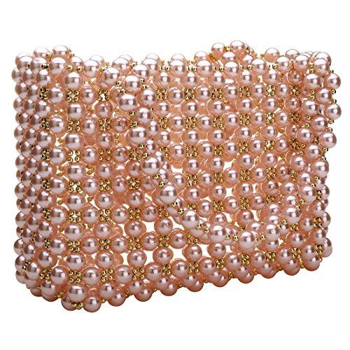 Pearl Bag Purses Evening Party Luxury Pink Womens Wedding Handbag Beautiful Bag fit qtUBUnWEv