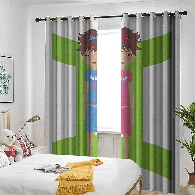 Longbuyer, cortinas opacas con diseño de géminis del zodiaco para ...