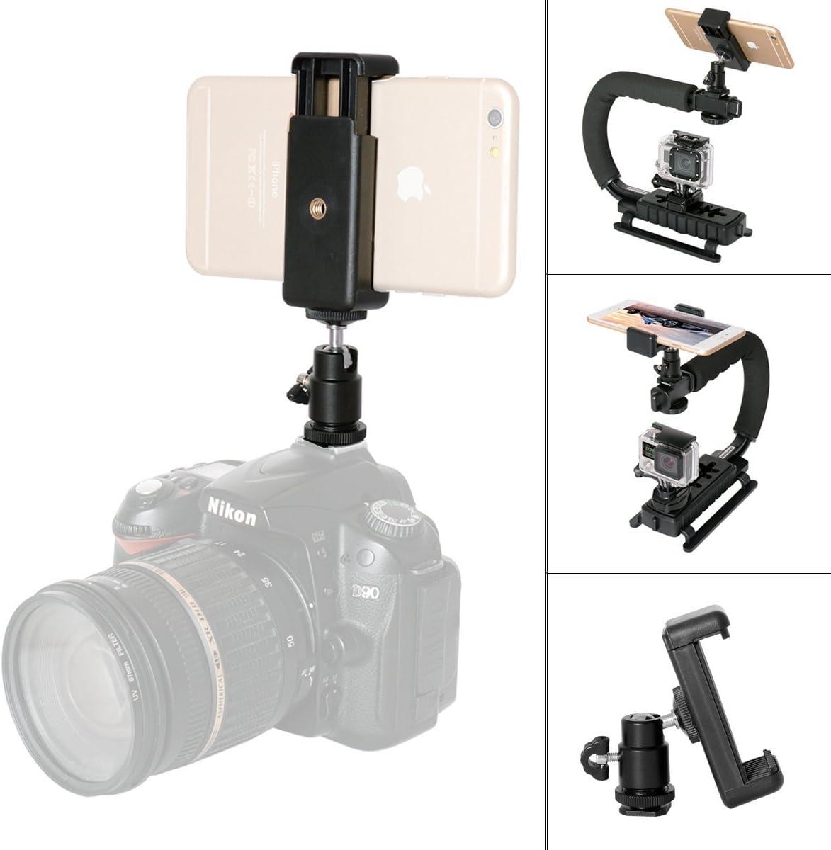 Kamera Blitzschuh Adapter 1 4 Gewinde Kugelkopf Kamera