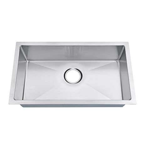 Awesome MOWA RV2716S Handmade Single Bowl 27u0026quot; Inch 18 Gauge Stainless Steel  Undermount Modern RV Sink