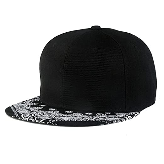 b58835f5925e23 Image Unavailable. Image not available for. Color: Toraway Caps, Unisex  Black Snapback Bboy Hiphop Hat Adjustable Baseball Cap