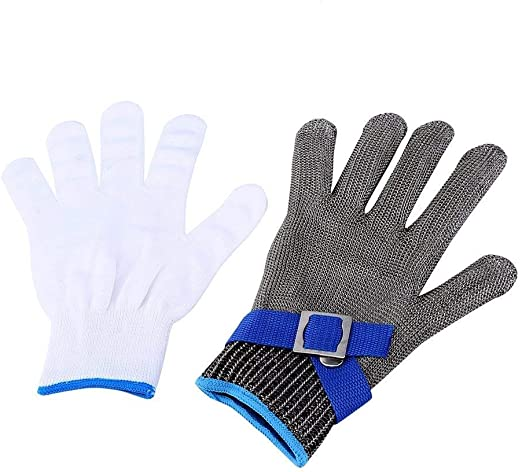 Butcher Safety Cut Proof Stab Resistant Stainless Steel Metal Mesh Wire Gloves