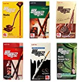 [Lotte] Pepero Variety Value Package 6 Flavors (6 packs) Chocolate Biscuit Sticks