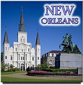 New Orleans Square Fridge Magnet Louisiana Travel Souvenir