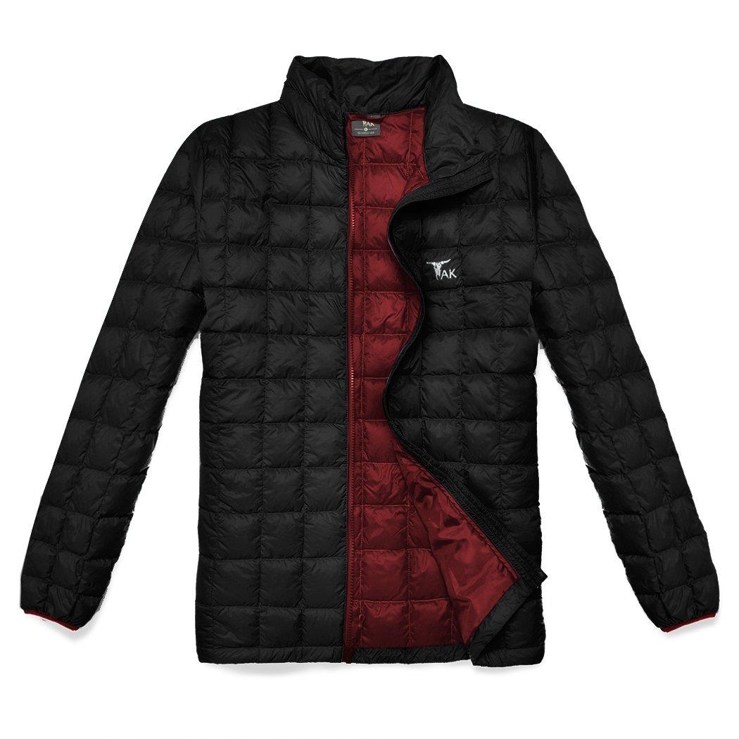 TAK Men's Puffer Down Jacket Packable Ultra Light Coat Good Outdoor