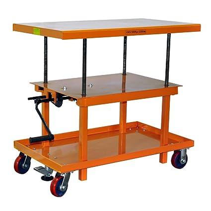 Bolton Tools New Mechanical Hand Crank Lift Table   2200 LB Of Capacity    42.1u0026quot;