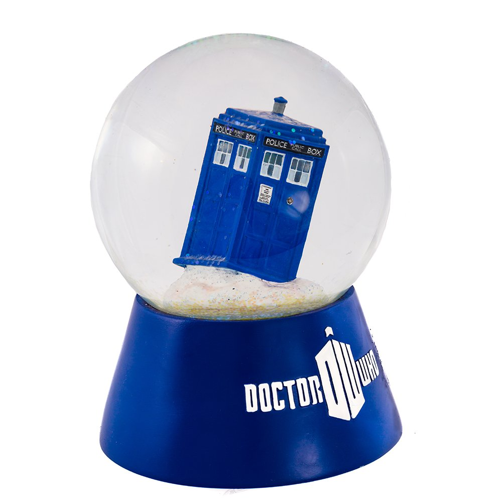 Doctor Who Kurt Adler Battery-Operated 120mm Lighted Water Globe, Tardis by Doctor Who
