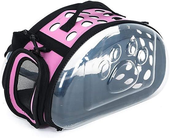 Mochila para Mascotas Estuche Transparente para Llevar Pecho Bolsas De Hombro Bolso Bolsas para Perros Gato Jaula (Color : Pink, Size : 36X20X22cm): Amazon.es: Hogar