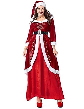 Amazon.com: Colorful House Women\'s Mrs. Santa Claus Costume, Plus ...
