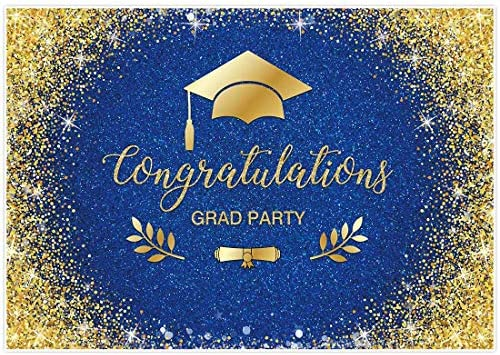 Haoyiyi 8x6ft Class of Congrats Grad 2021 Backdrop Cap Doctorial Hat Mortar Boards Thrown Up to The Sky Background Photography Photo Birthday Party Wedding Banner Pictures Decorations