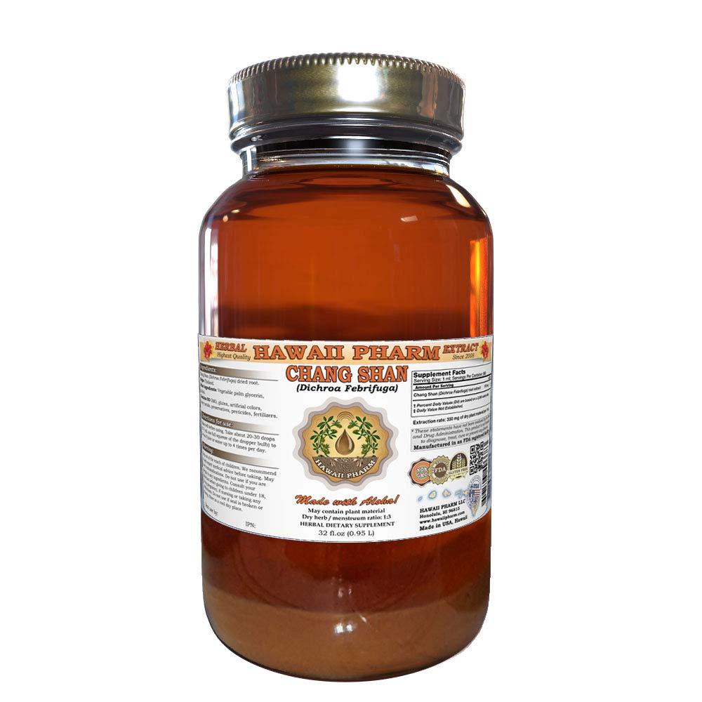 Chang Shan, Chang Shan (Dichroa Febrifuga) Tincture, Dried Root Liquid Extract, Chang Shan, Herbal Supplement 32 oz