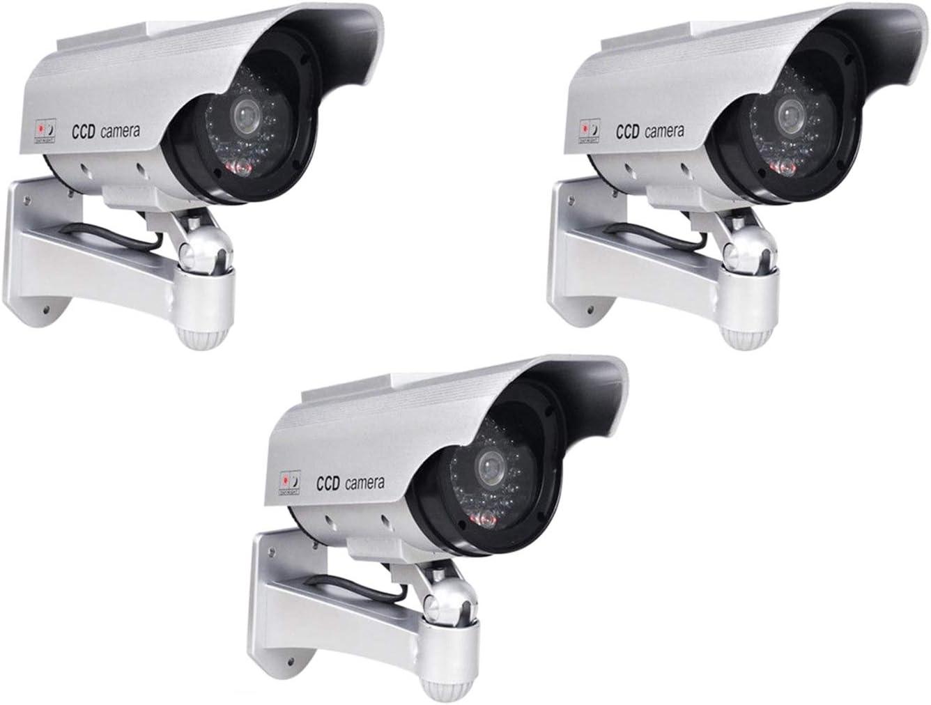 Phot R 3x Solar Powered Dummy Ir Led Security Surveillance Camera Cam I With Baumarkt