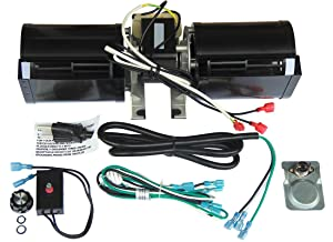 Hongso GFK-160 GFK-160A GFK160 Replacement Fireplace Blower KIT, for Heat N Glow GFK-160A; Regency Wood Stove Insert 846515; Royal GFK-160; Jakel; Rotom # R7-RB168 (16Y-New)