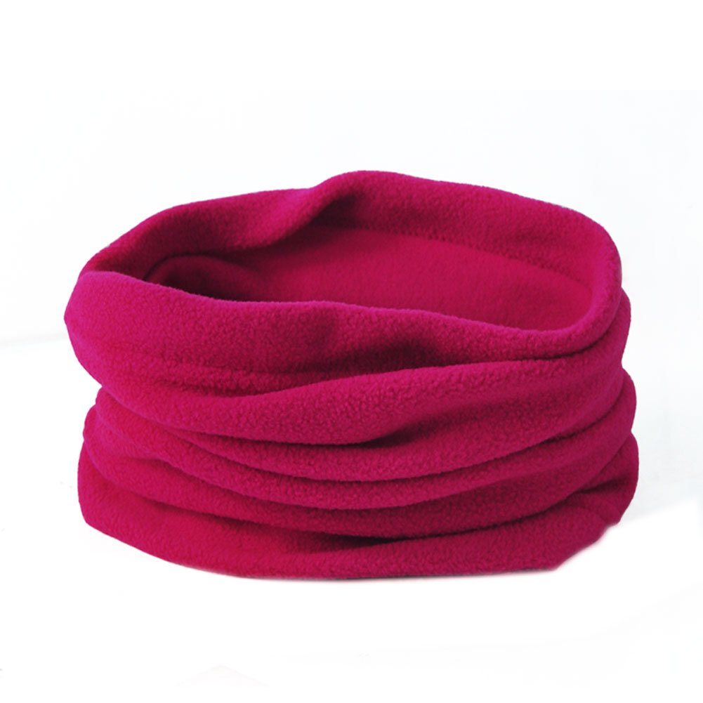 FUNOC Ladies Fleece Snood Scarf Neck Warmer Beanie Hat Ski Balaclava Multi Use 531863455480