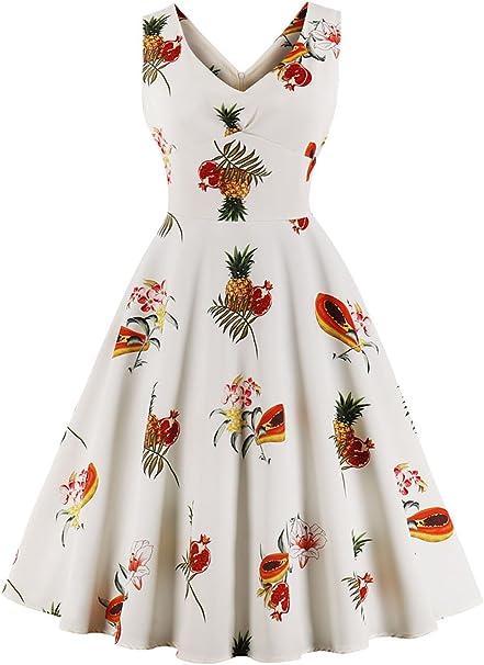 Axoe Damen Elegante 9er Jahre Vintage Kleid Festlich Abendkleid