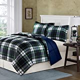 madison park essentials parkston down alternative comforter mini set full queen navy