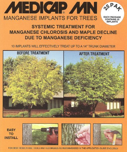 Medicap 25-Pack MN Systemic Manganese Tree Implants for Control of Manganese Chlorosis, 3/8-Inch by Medicap