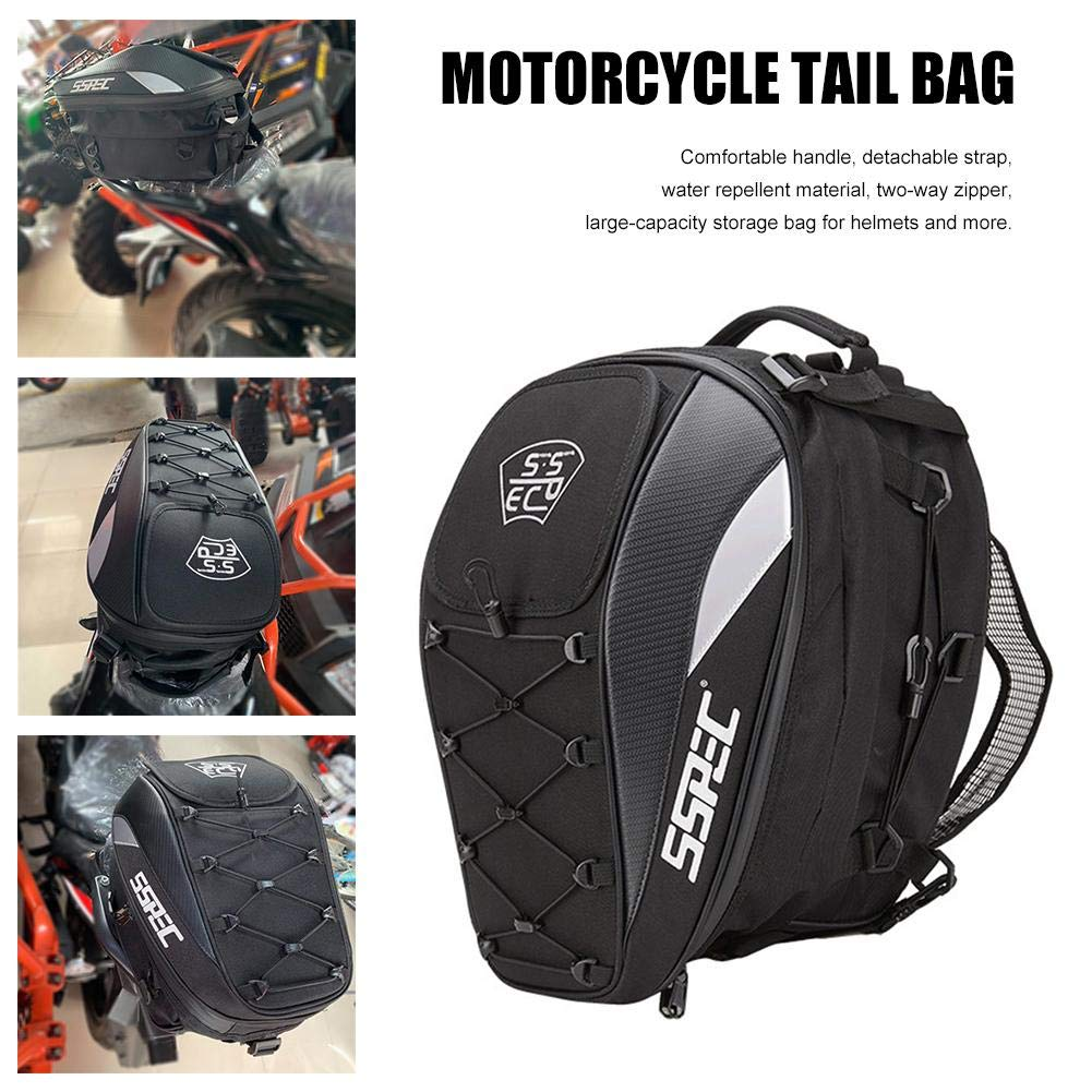 benefit-X Motorcycle Backpack Waterproof Motorbike Helmet Backpack with Reflective Strips a Elastic Storage Cord Multi-Function Motorcycle Backpack 11.81 11.81 16.92in