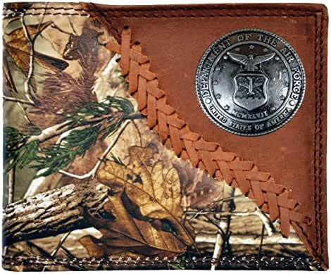 Custom Badger United States Air Force Long Rodeo Checkbook Realtree AP Camo Wallet