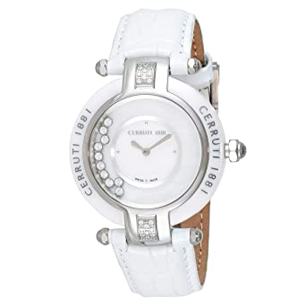 8e0345089c Cerruti 1881 Women Mother of Pearl Dial Leather Band Watch -C CRWPDM040B556N