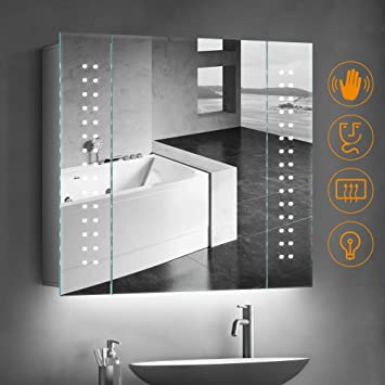 Phenomenal Quavikey Ambient Lighting Under Cabinet Bathroom Mirror Cabinet Aluminum Bathroom Mirror Wall Mounted With Shaver Socket Demister For Makeup Cosmetic Home Interior And Landscaping Oversignezvosmurscom