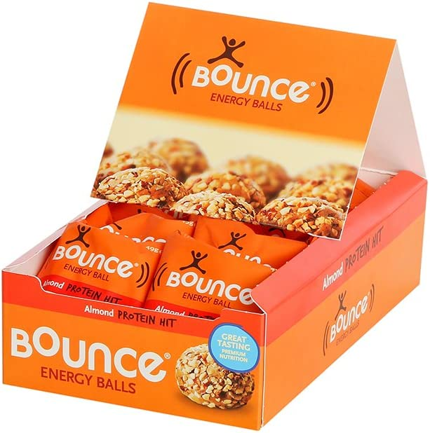 Bounce Almond Protein Hit Energy Balls 49 G Pack Of 12 Amazon Co Uk Health Personal Care