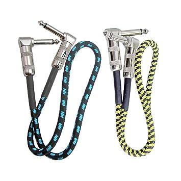 Sharplace Cable de Conexión de Audio Corto, 2x Piezas de Repuestos para Guitarra Eléctrica: Amazon.es: Instrumentos musicales