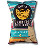 Siete Sea Salt Grain Free Tortilla Chips, 5 oz bags, 6 Pack