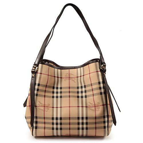 733eed41343 Burberry Haymarket Small Canterbury Tote in Chocolate/Check: Amazon.ca:  Shoes & Handbags