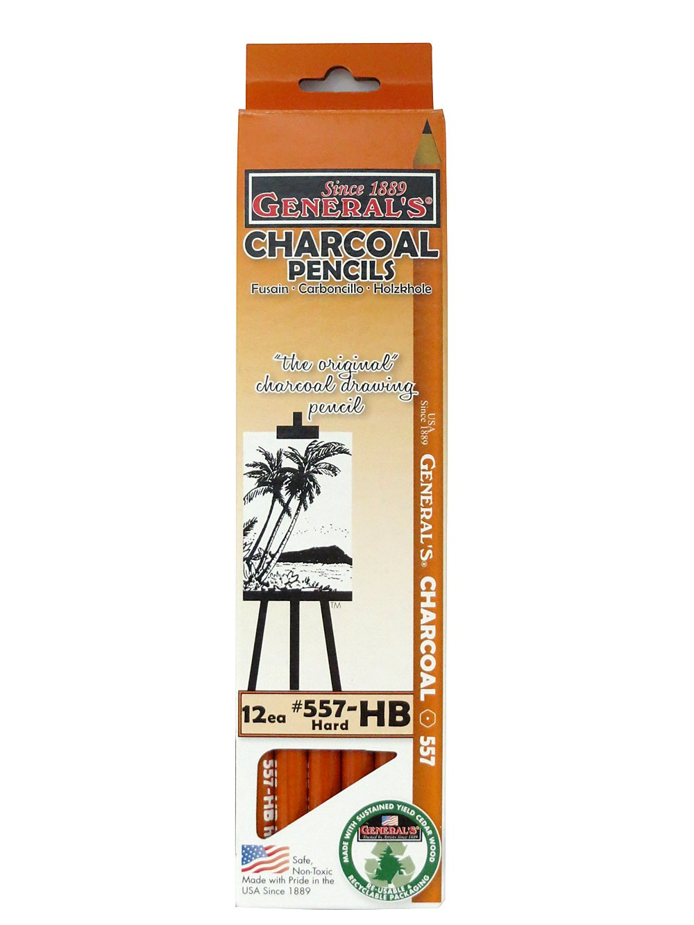 General Charcoal Pencil 557-Hb by GENERAL PENCIL CO INC