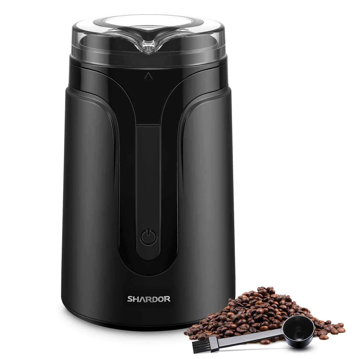 SHARDOR Electric Coffee Grinder Mill for 1-2 Person, Grinder for Spices, Herbs, Nuts, Grains,Black by SHARDOR