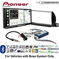 Volunteer Audio Pioneer AVIC-W8400NEX Double Din Radio Install Kit with Navigation, Apple CarPlay and Android Auto Fits 2002-2004 Nissan Altima (With Bose)