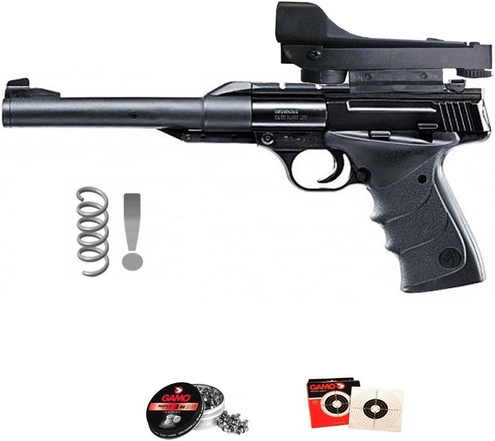 Browning Kit Umarex Buck Mark Urx (con Visor holográfico) - Pistola de Aire comprimido (Muelle-Resorte) Calibre 4.5mm de perdigones de Plomo <3,5J