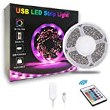20ft LED Strip Lights, Timelux Color Changing Mood lamp USB 5V Operated RGB 5050 LED Tape Lights Bedroom, Kitchen Cabinet Lig