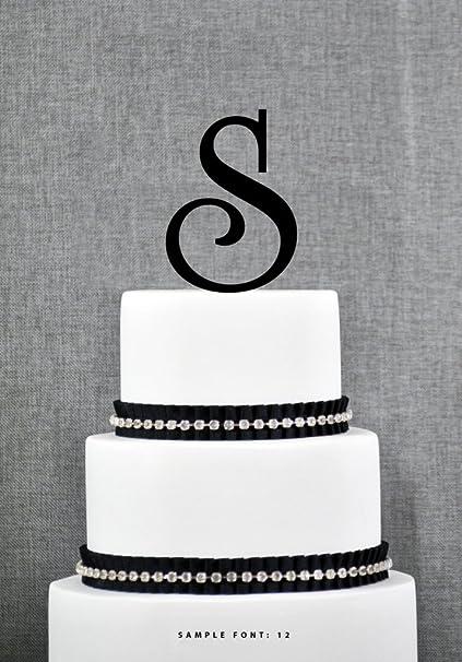 S Monogram Wedding Cake Toppers