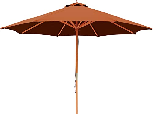 Island Umbrella NU5426TC Tranquility Patio Market Umbrella, Terra Cotta