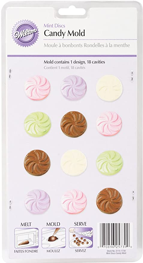 Amazoncom Candy Mold Wedding Mint 18 Cavities Candy Making Molds