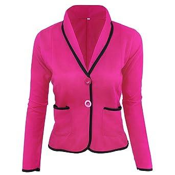 Damen Strickjacken Cardigan Elegant Blazer Leicht Bolero Offene Blazer Business Anzug mit Taschen Tailliert Kurzjacke Büro Ou