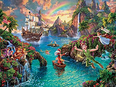 Ceaco The Disney Collection - Peter Pan Puzzle by Thomas Kinkade Puzzle (750 Piece) - Peter Pan Toy