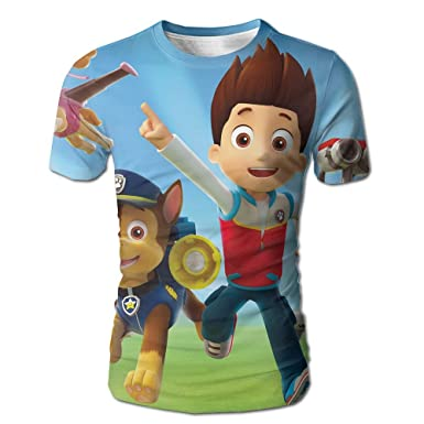 BYUCI FMILOC T Shirt Paw Patrol Chase Wallpaper 3D Printed Atmosphere Comfortable