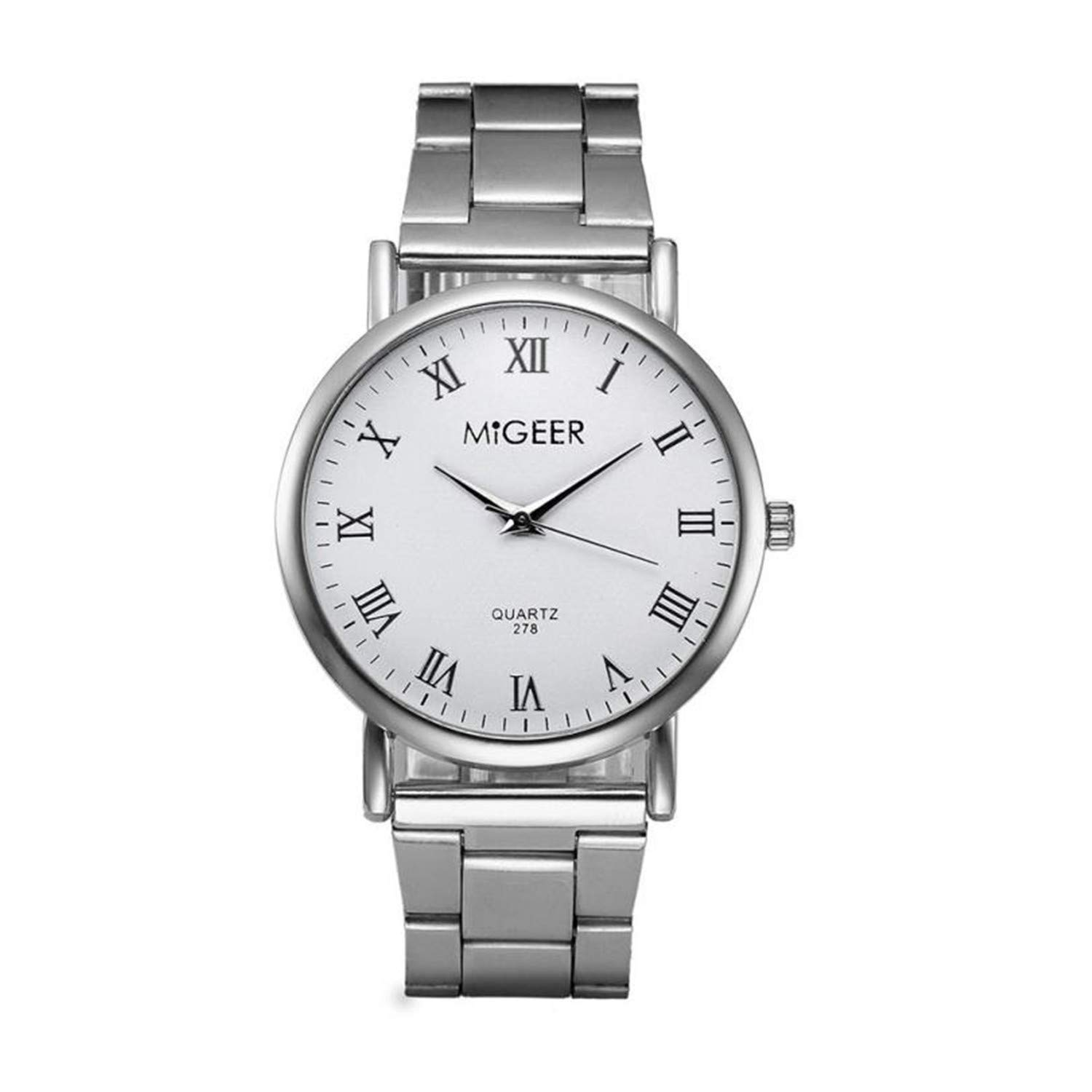 Amazon.com : naivety Fashion Women Crystal Stainless Steel ...