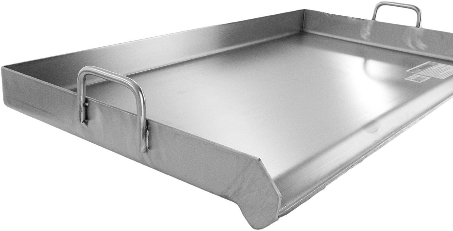 Bioexcel Stainless Steel Plancha Griddle Pan - Plancha for Taco Cart and for  BBQ Grill 15'', 32'' & 36'' - This one is 36''x22''