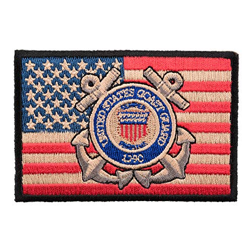 - American Flag Coast Guard Patch, US Flag Patches