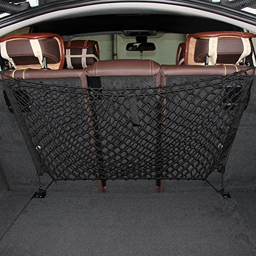 etopmia Mesh Vehicle Organizer Premium Quality Sturdy Black Net Item Trunk Cargo Car Organizer (Chevy Emblem Uplander compare prices)